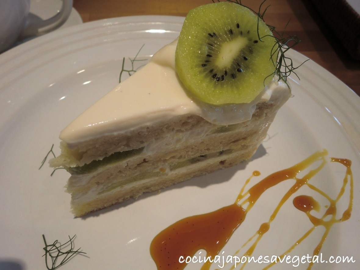 Pastel con crema de tofu