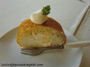 Roll cake de plátano